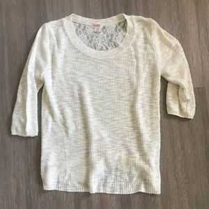 Cream three quarter length light weight sweater